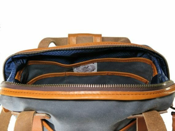 Aviator Briefcase: Inside - Grey and English Tan