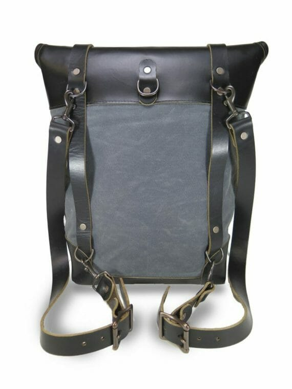 Backpack back Gry BLK wht bkg w shd
