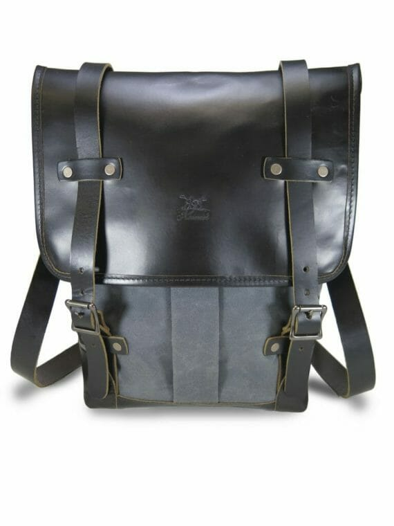 Backpack: Front - Grey and Black