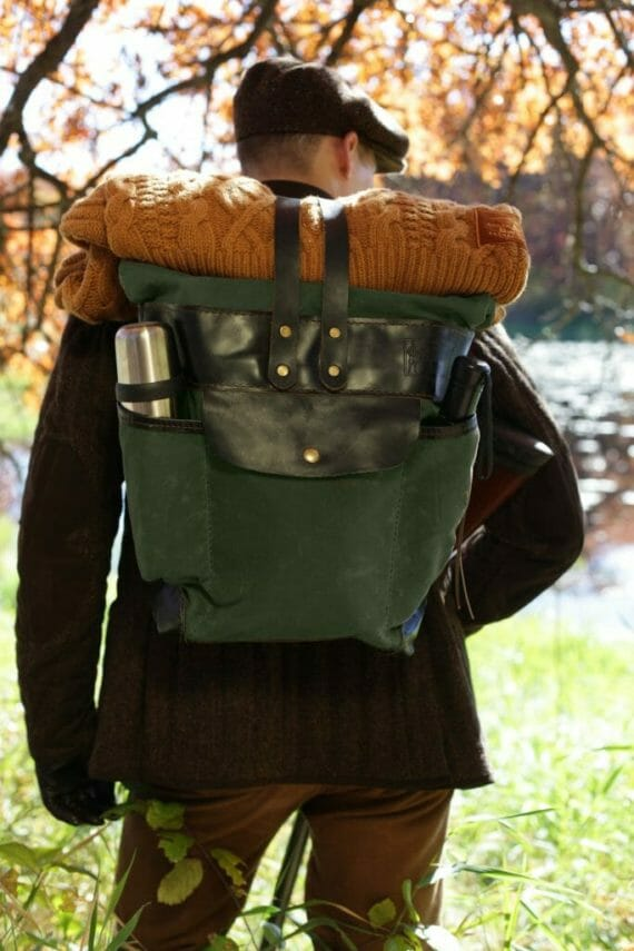 Roll Top Pack in Use in the Woods