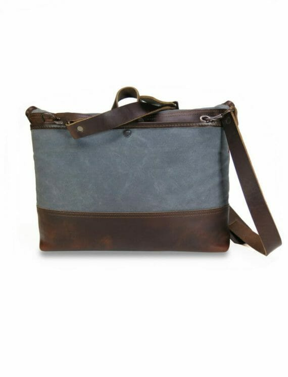 Commuter Briefcase: Back - Grey and Havana Brown