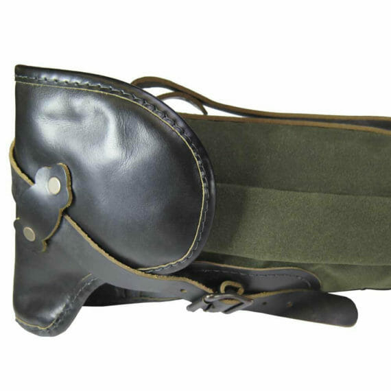 Gun Case: Strap Closeup - Olive Green and Black