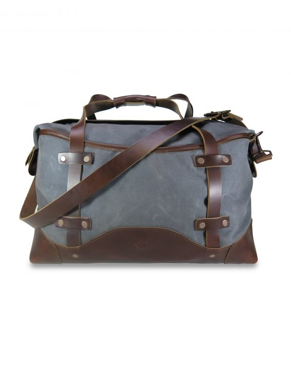 Commuter Briefcase: Front with Strap- Grey and Black