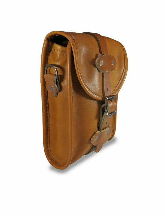 Birdwatcher Bag Side View - English Tan