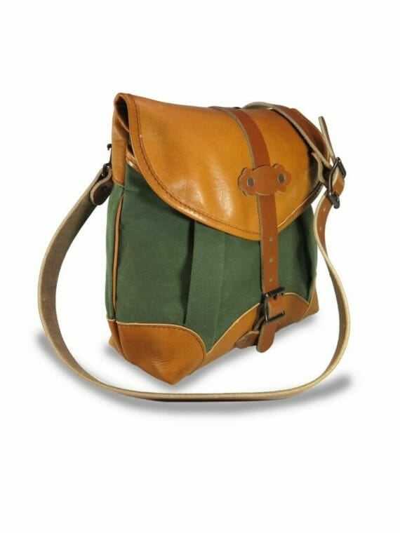 Uplander Pack: Angled - Olive Green and English Tan