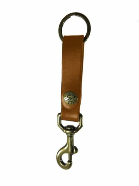 Large Key Fob - English Tan