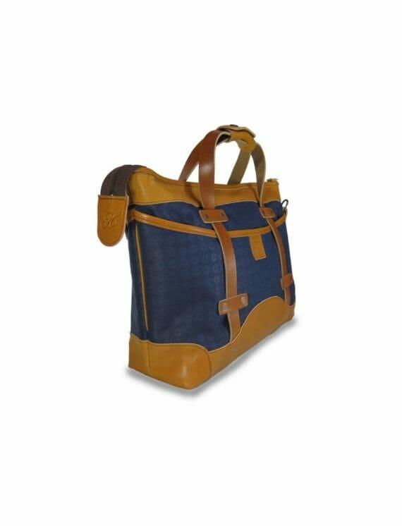 Blue Porter Bag - Angled View