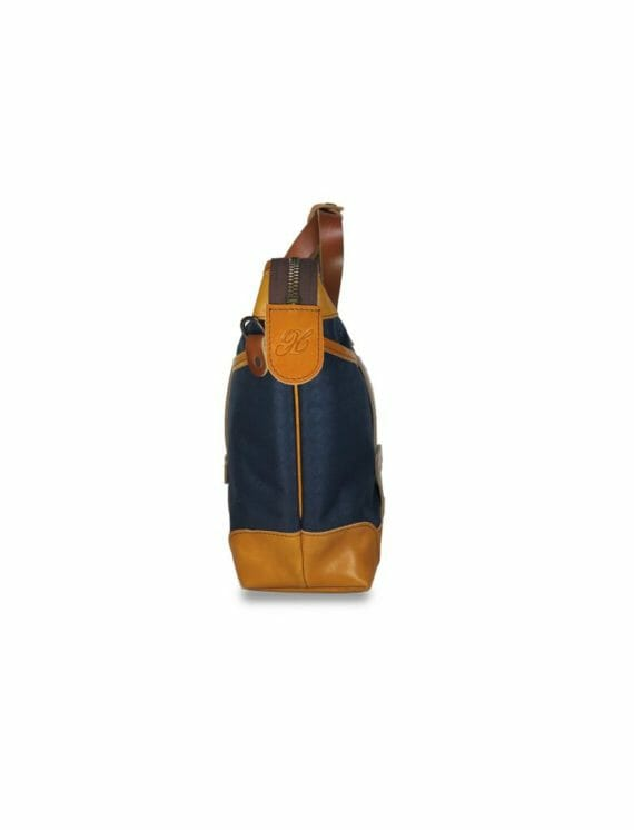 Blue Porter Bag - Side Profile